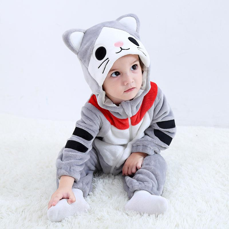 Baby Boys Girls Cute Doraemon Hoodie Romper Jumpsuit Outfits
