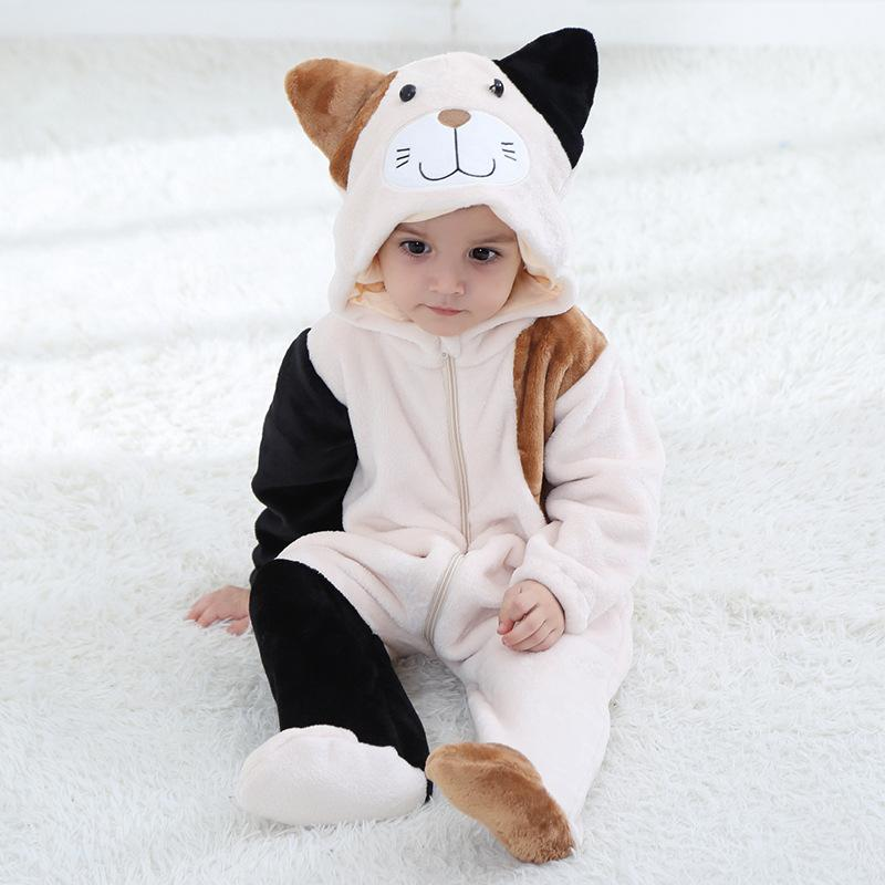 Baby Boys Girls Cute Flower Cat Hoodie Romper Jumpsuit Outfits