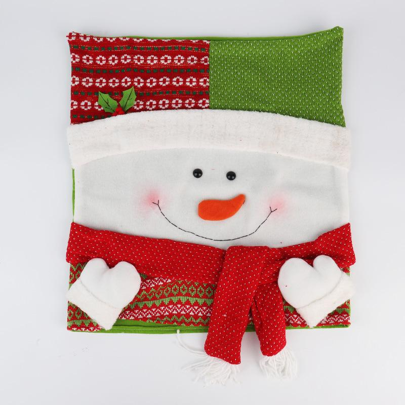 1 pcs 50*46cm Thick and Solid Lovely Christmas Chair Covers Mr Santa Claus Snowman Christmas Decoration