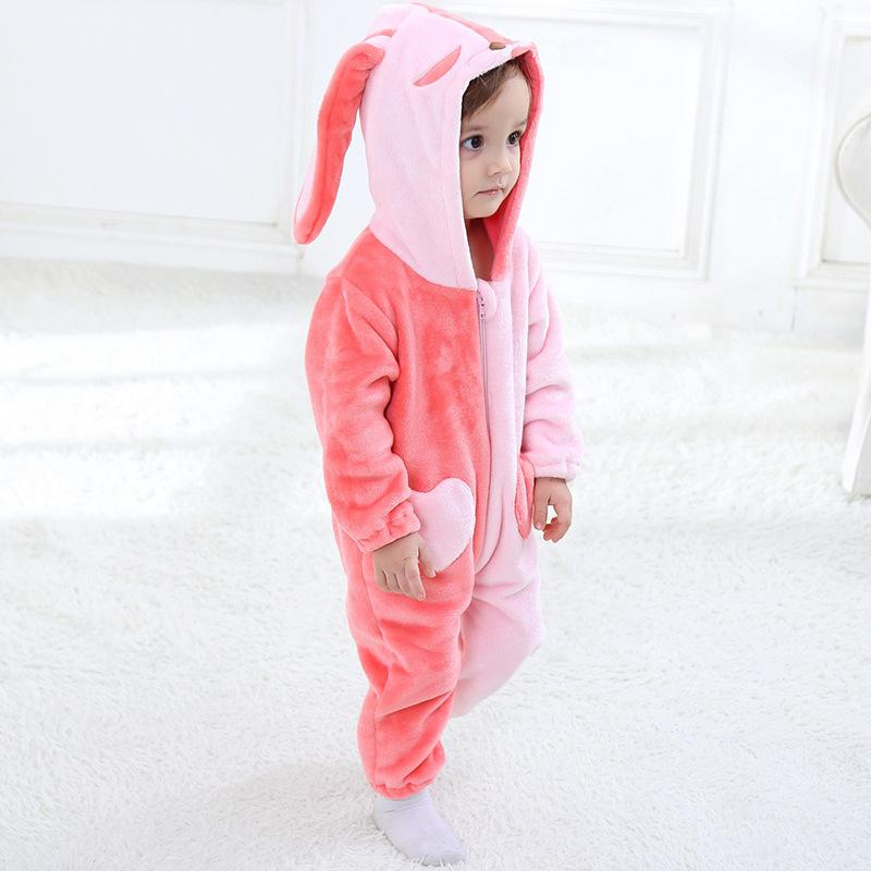 Baby Boys Girls Cute Hoodie Romper Jumpsuit Outfits