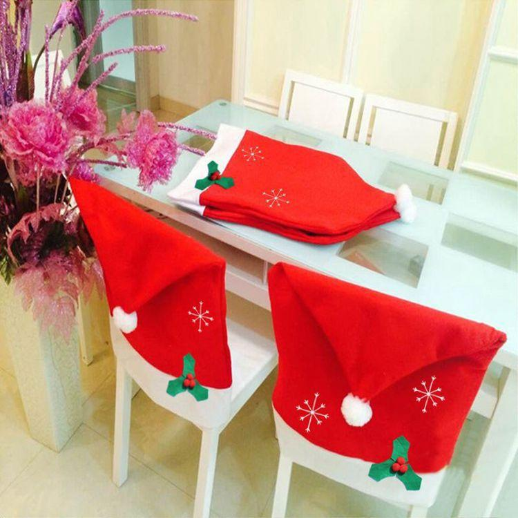 1 pcs 50*65cm Christmas Snowflake Chair Back Cover Christmas Decorations