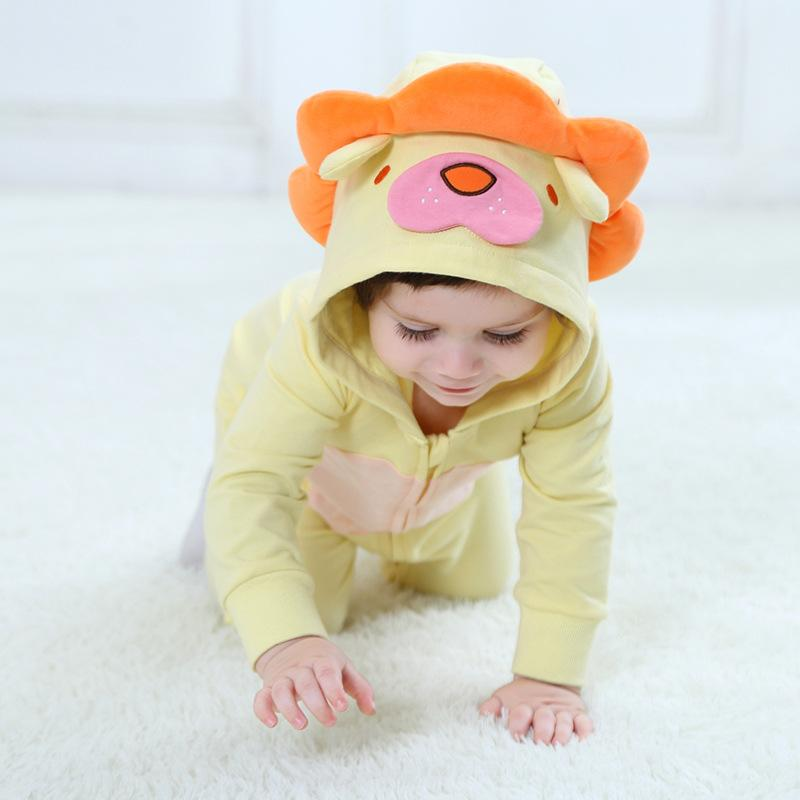 Baby Boys Girls Cute Lion Hoodie Romper Jumpsuit Outfits
