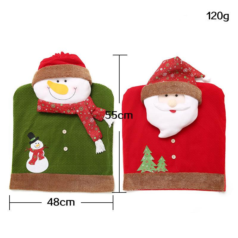 1 pcs Cute Christmas Decoration Santa Claus Snowman Elk Chair Covers For Home Dinner Table Chair Party Supply