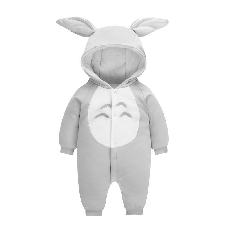 Baby Boys Girls Cute Cartoon Thick Winter Hoodie Romper Jumpsuit Outfits