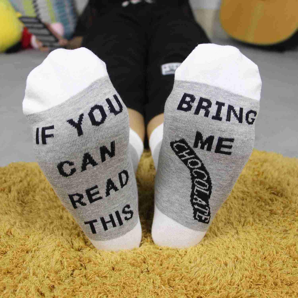 3pcs IF YOU CAN RESD THIS Casual Cotton Socks
