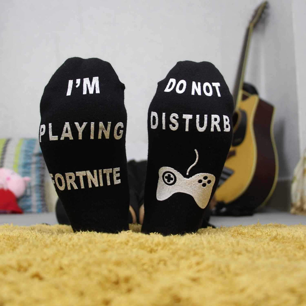 3PCS I'M PLAYING FORTNITE  Letter socks