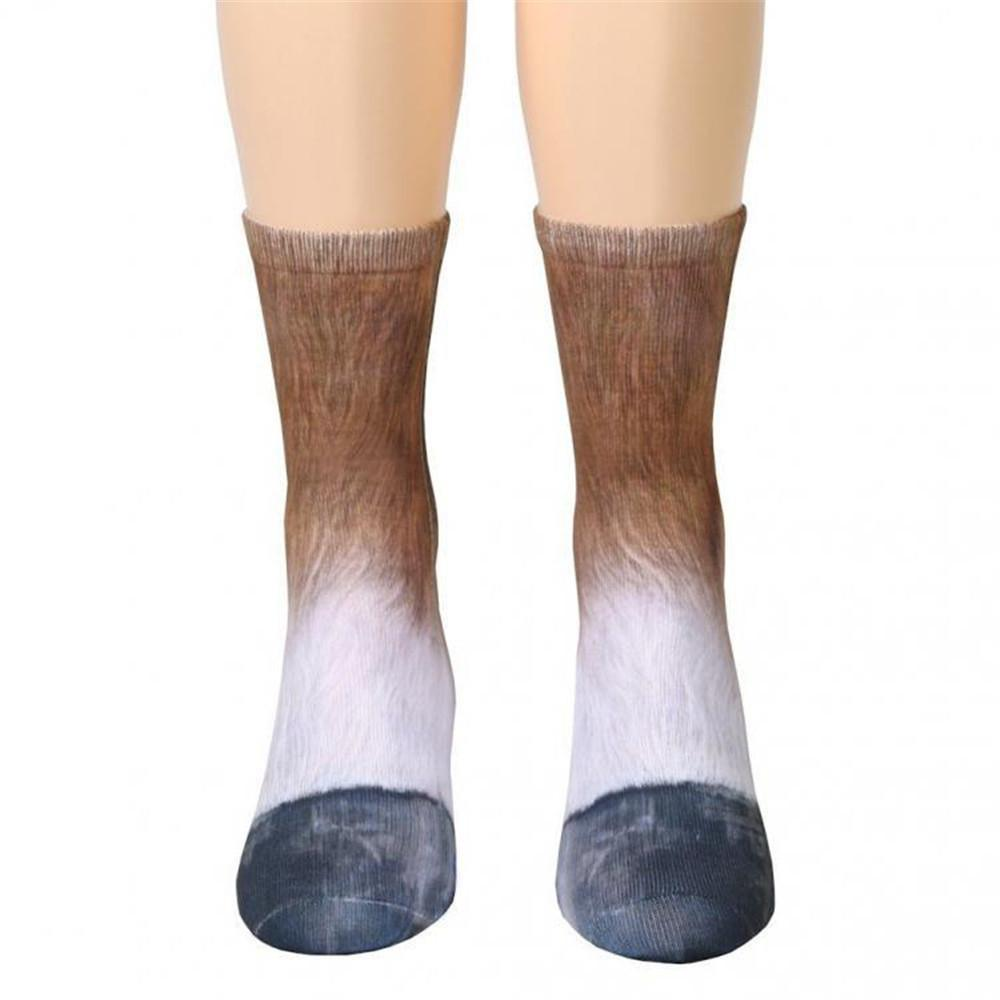 Women Animal foot hoof adult socks