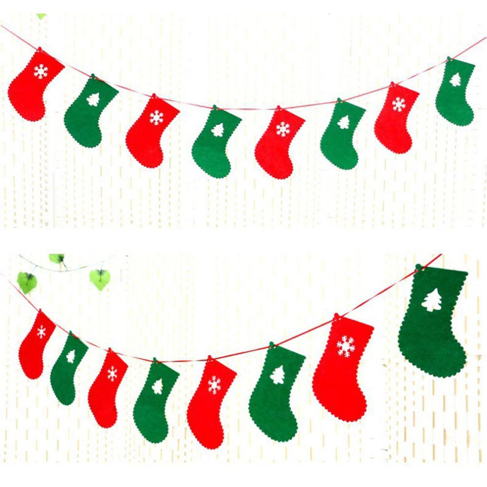 3M Length letter christmas tree shoes pull sign banner christmas tree decoration