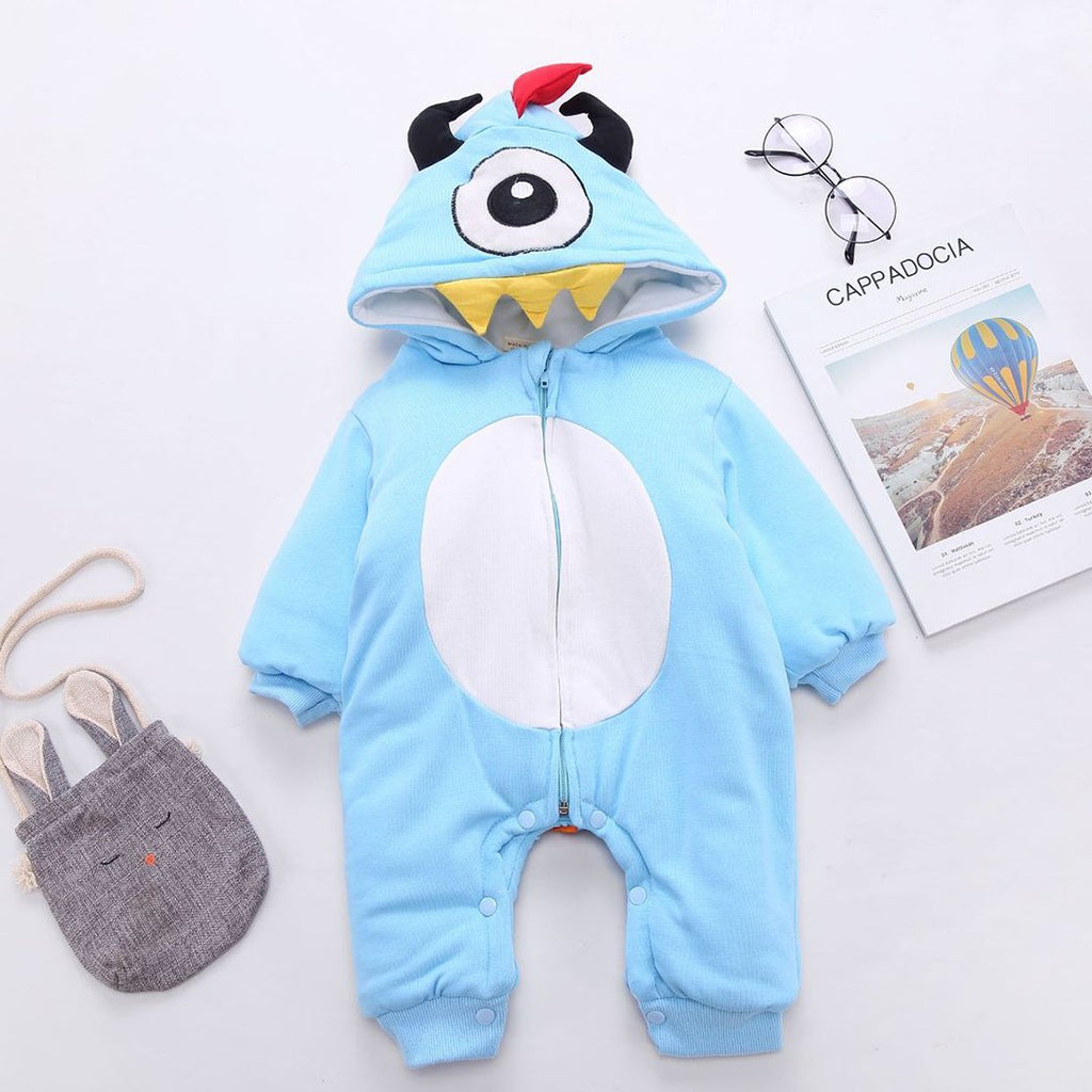 New Fashion Baby Hooded Romper Casual Children One-piece Cute Baby Rompers Baby Romper