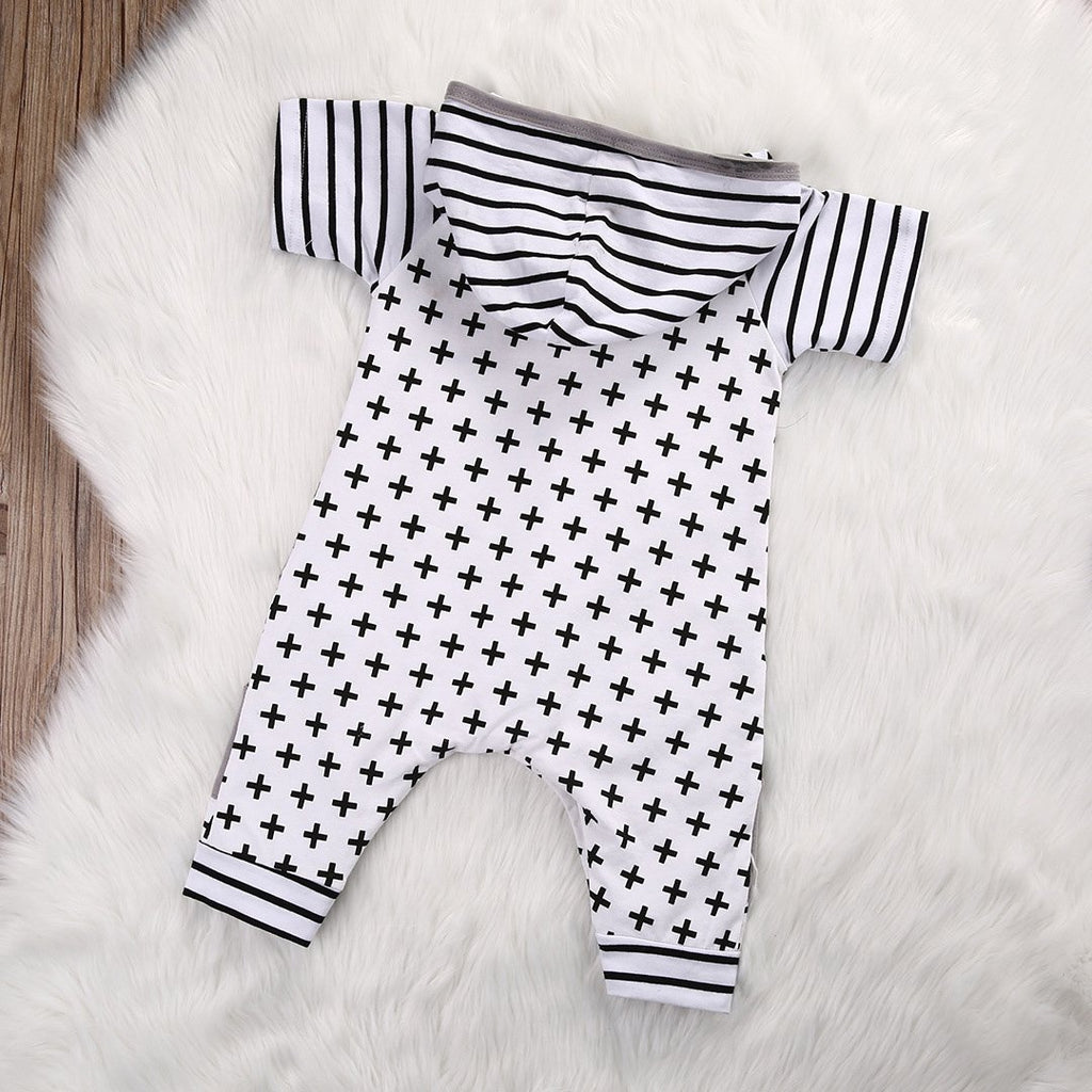 0-18M Newborn Toddler Baby Boys Girls Romper Hooded Tops Jumpsuit Clothes Outfit