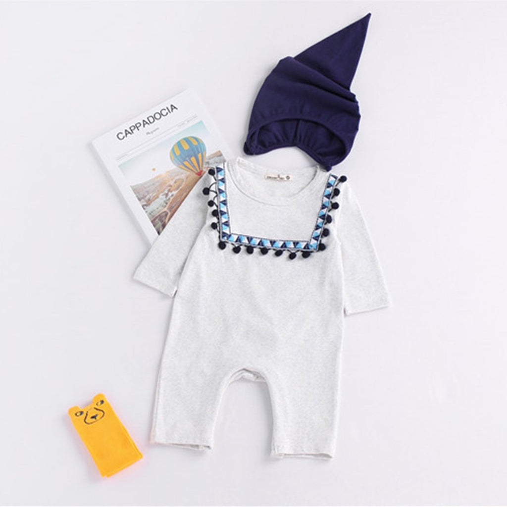 Cute Newborn Baby Boy Girl Romper Bodysuit One Piece Romper 0-24M