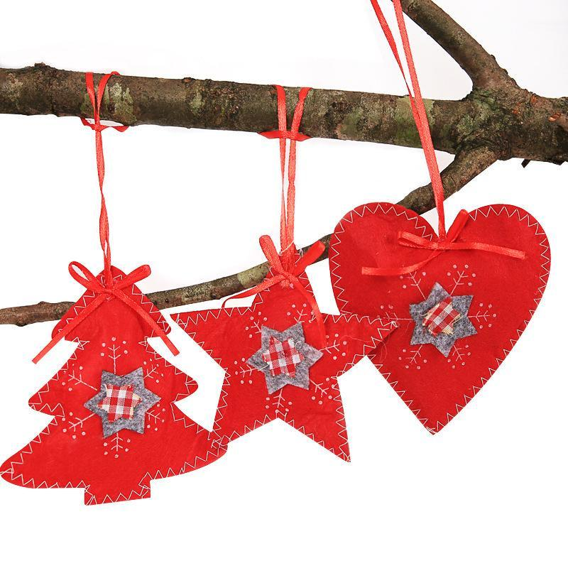 Christmas Decorations Love small tree five-pointed star three-piece suit