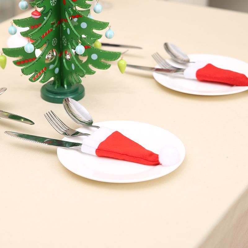 Christmas Decorations Christmas hat and knife set