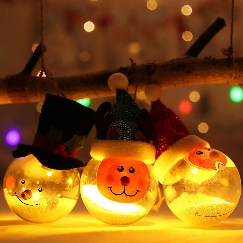 Christmas Decorations Christmas ball transparent light