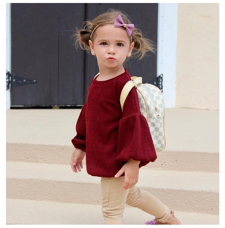 Baby Girls Cute Lantern Sleeve Cute Tops