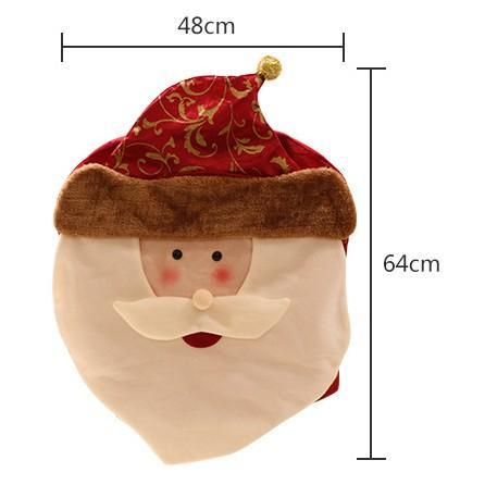 1 pcs 64*48cm Christmas Decorations Snowman Santa Claus Elk Chair Back Covers Dinner Xmas Gift