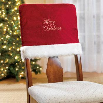 1 pcs 40*46cm Christmas Decorations Embroidered Word Chair Back Covers Dinner Xmas Gift