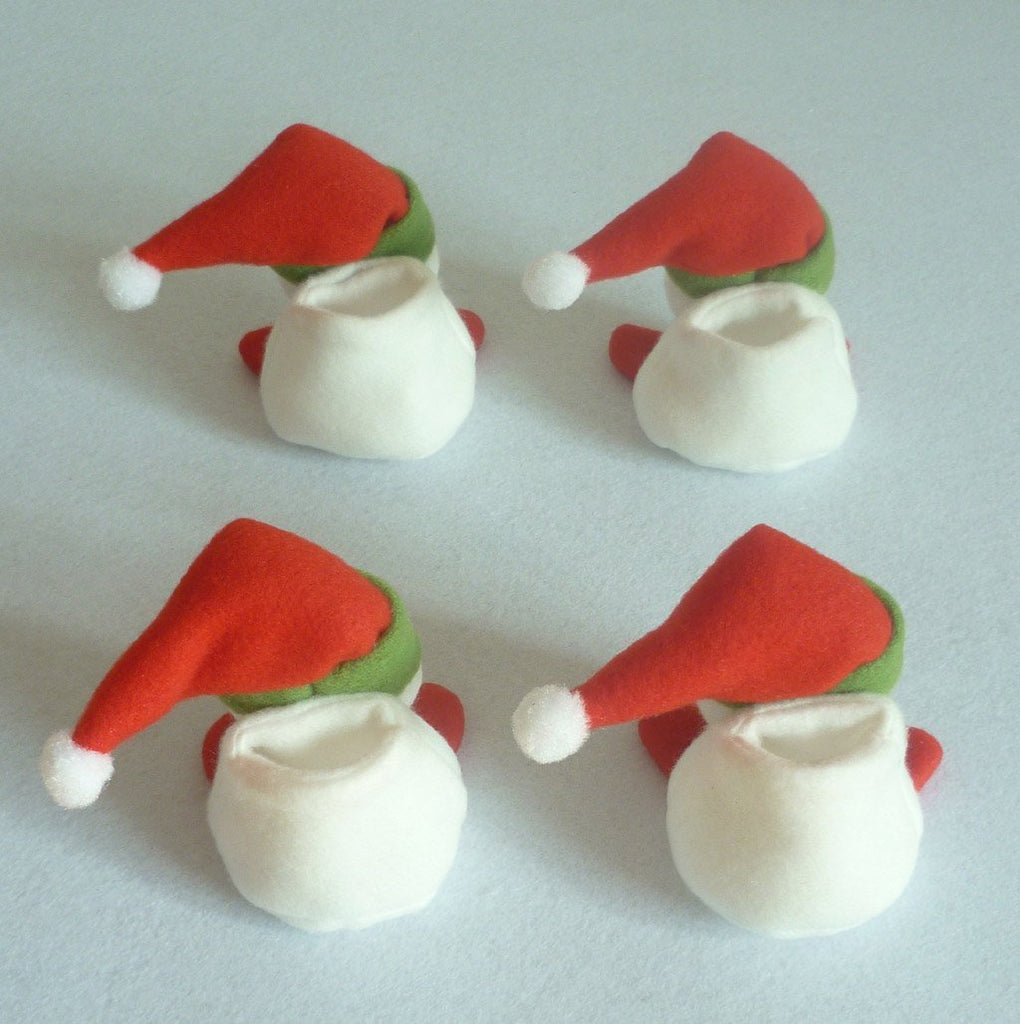 4 pcs 10*8*7cm Christmas Decorations Snowman Chair Foot and Table Foot Covers Dinner Xmas Gift