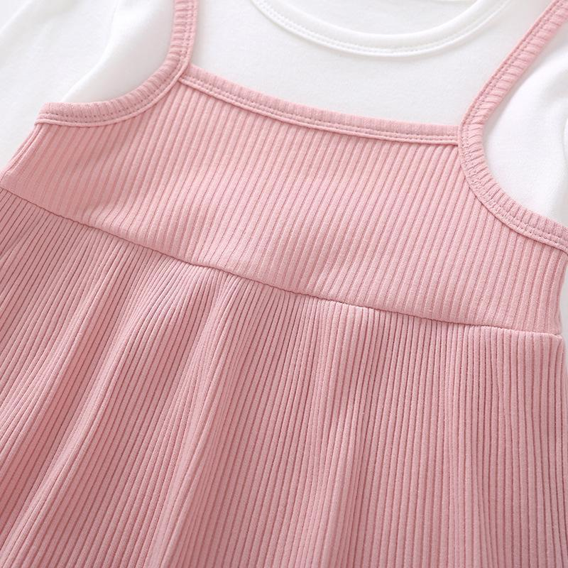 Baby Open Crotch Dress Cotton Long-sleeved Triangle Jumpsuit Baby Clothes