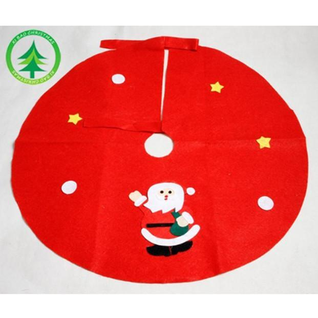 Christmas Decoration Red Non-Woven Fabric Cute Christmas Tree Skirt 45cm 60cm 90cm