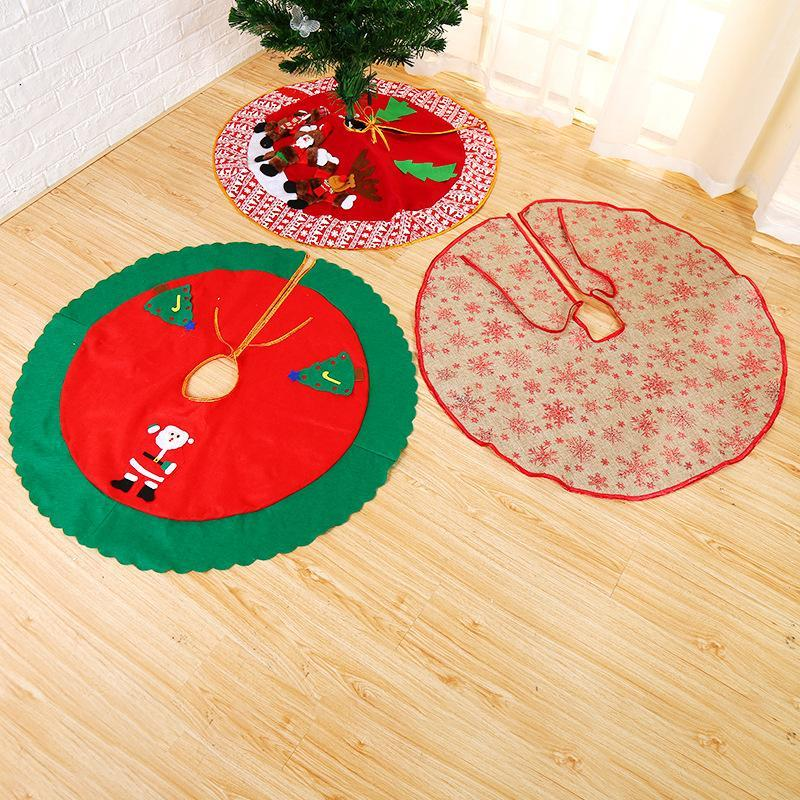 Christmas Decoration Santa Claus Non-Woven Fabric Cute Christmas Tree Skirt 120cm