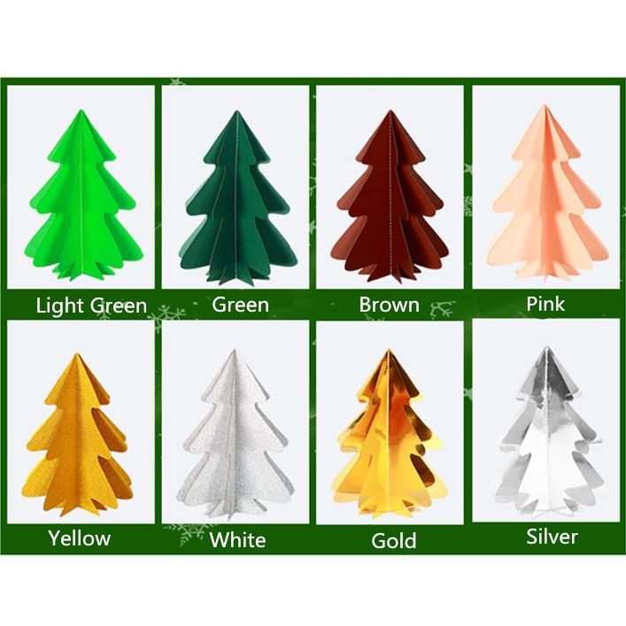 Christmas Decoration Beautiful Stereoscopic Christmas Tree Paper 2M 8 Color
