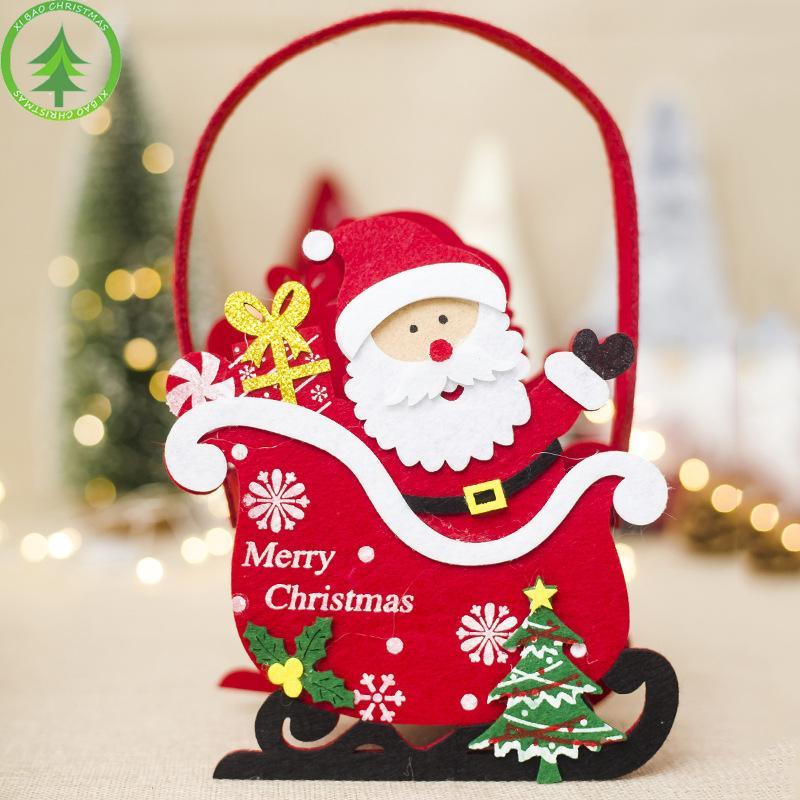 1 PIC Christmas Decoration Non-Woven Fabric Santa Claud Snowman Bear Elk Christmas Lovely Candy Bag Xmas Gift