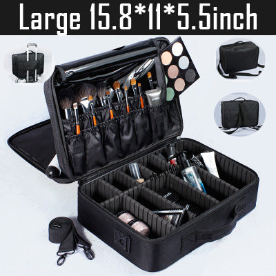 High Quality Professional Empty Makeup Organizer Bolso Mujer Cosmetic Case Travel Large Capacity Storage Bag Suitcases