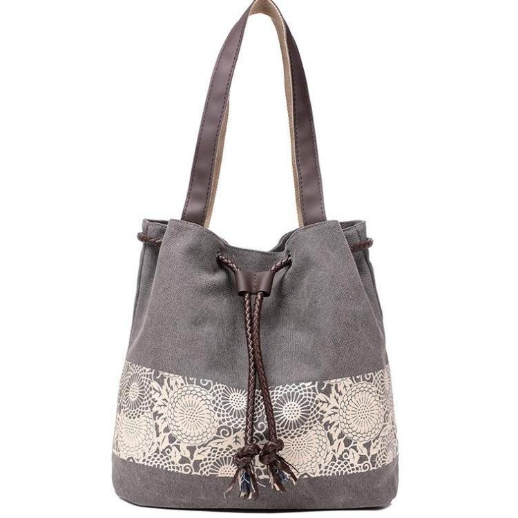 Women Large-capacity Handbag Canvas Shoulder Bag