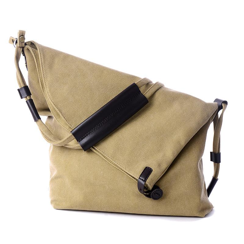 Women Vintage Canvas Casual Large Capacity Crossbody Bags Leisure Retro Shoulder Bags