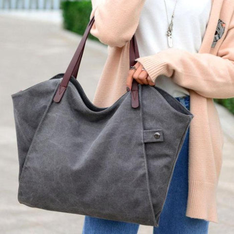 Casual Totes For Women Padded Canvas Bag Large Capacity Ladies Handbag Wild Shoulder Simple Light Shopping