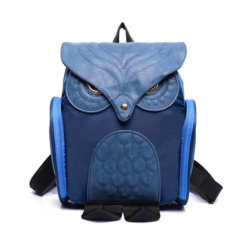 Women Backpack PU Leather Owl Backpack Women Shoulder Bag School Bags