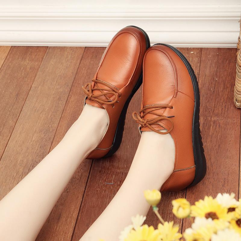 8825582b7a Comfort Low Heel Oxford Shoes Lace-up Daily Loafers – Kissvivi.com