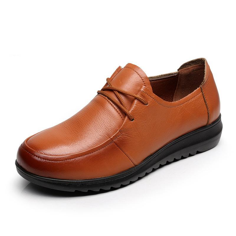 a4b940a7a3 Comfort Low Heel Oxford Shoes Lace-up Daily Loafers. Comfort Low Heel  Oxford Shoes Lace-up Daily Loafers