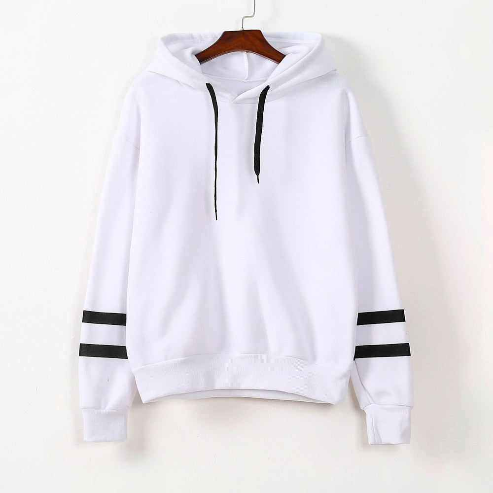 Women's Fashion Hoodie Sweatshirt Tops S-XXL Gray