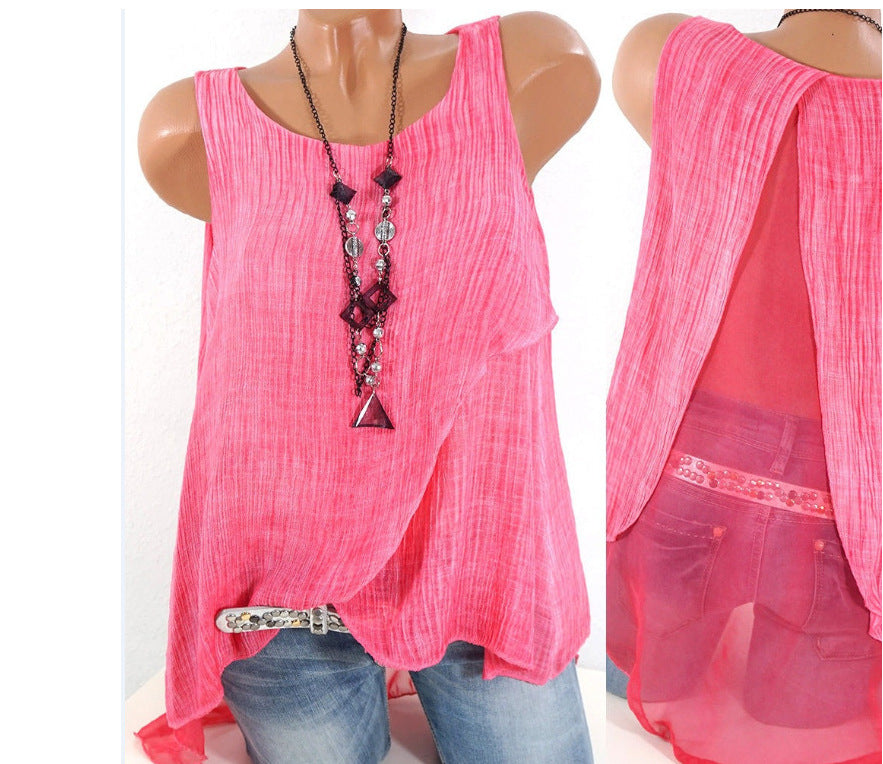Women's Summer Cute Sleeveless Tops S - 5XL