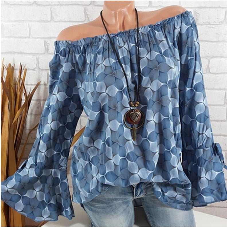 Women Long Sleeve Off Shoulder Tops S - 5XL