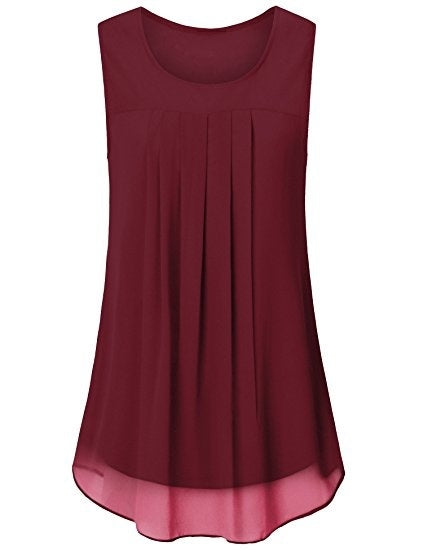 2018 Fashion Chiffon Sleeveless T-shirts Tank Tops S - XXL