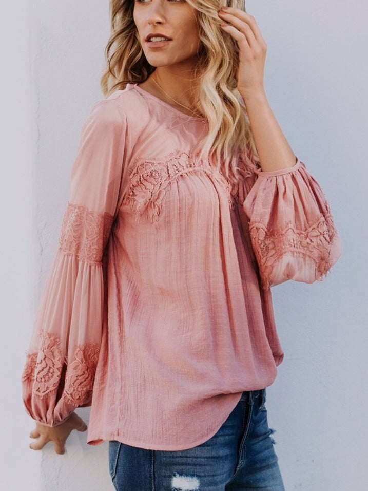Chic Long Sleeve Casual Tops Blouse
