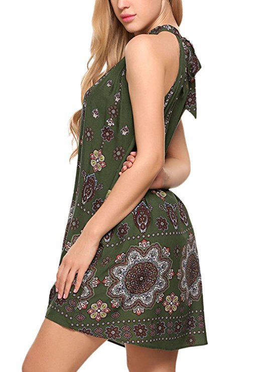 Plus Size Floral Printed Summer A-line Dresses S - XXL
