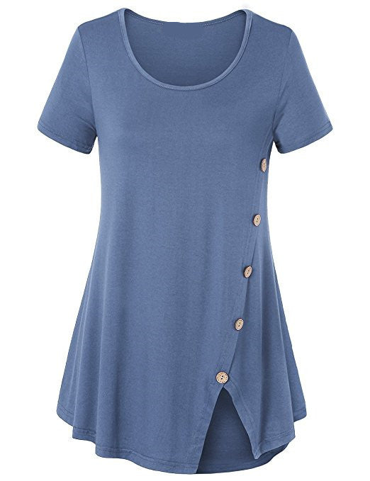 Chic Short Sleeve T-shirt Tops