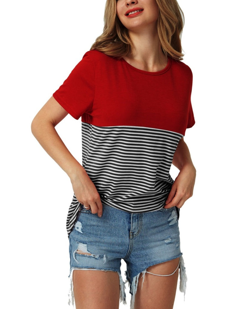 Women's Casual Striped Tops T-shirts