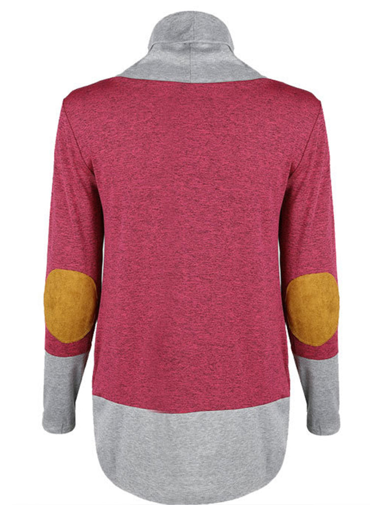 Women's hit color high-necked long-sleeved knit winter sweater