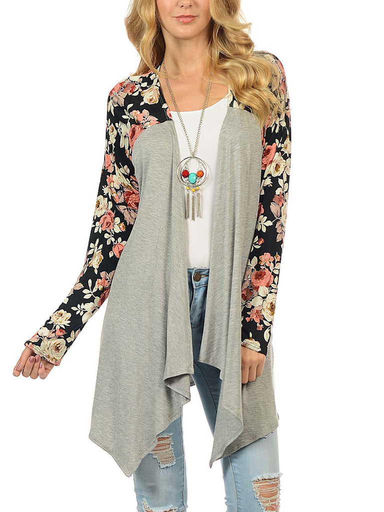 Women's Fashion Long-Sleeved Printed  Cardigan