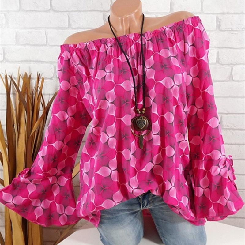 Plus Size Women Long Sleeve Blouse Casual Loose Tops