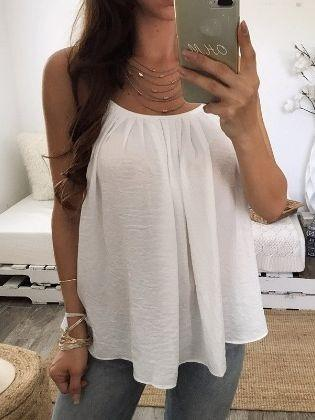 Summer Fashion Women Oversized Crop Tops Casual Style Chiffon Sleeveless Tank Tops