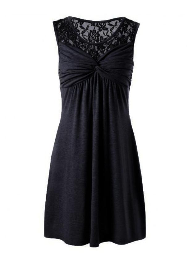 Women Lace Sleeveless Sexy Dress S-5XL