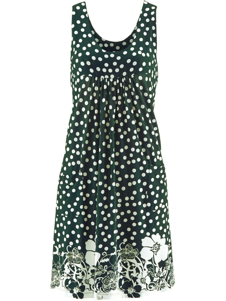 Women Plus Size Sleeveless Casual Printed Summer Short Dress with Pockets