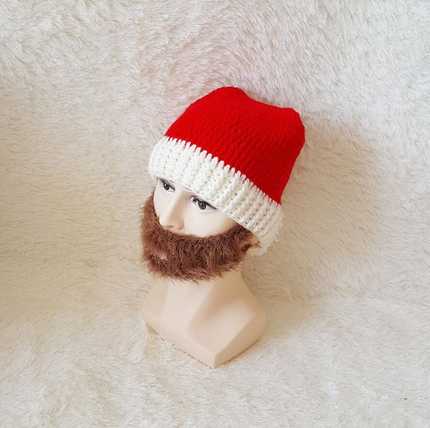 New Fashion Bearded Hat Handmade Knitted Men and Women Christmas Cap