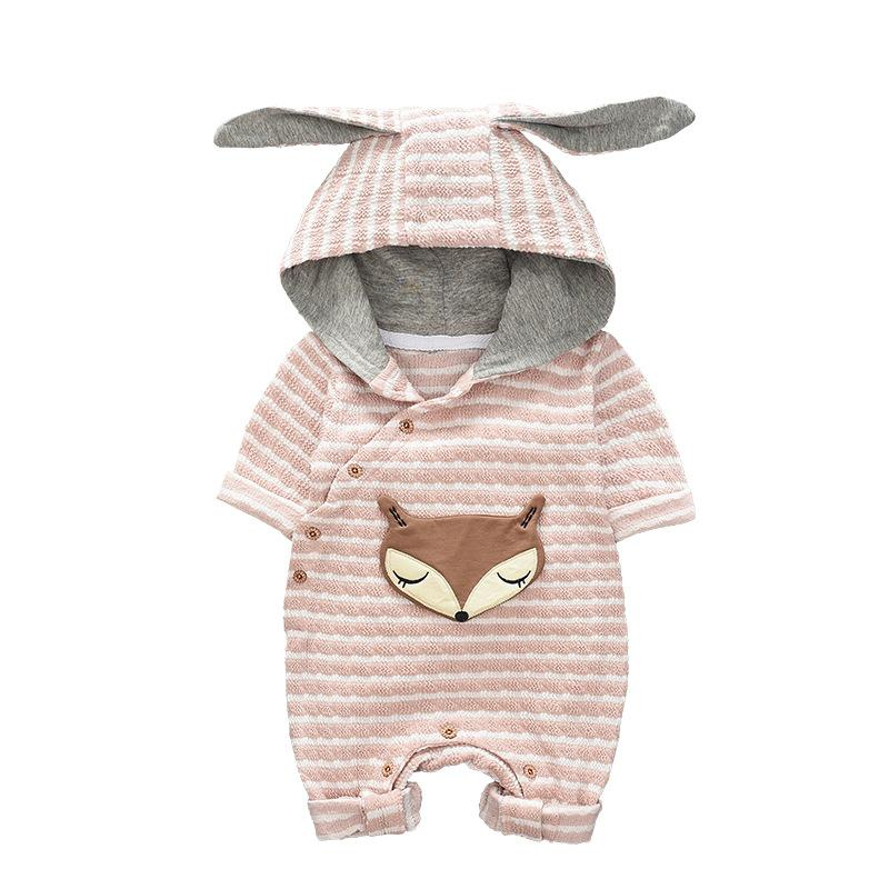 Baby Boys Girls Cute Cartoon  Fox  Autumn jumpsuit Outfits